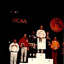 Sandy Womack on the Podium