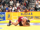 Andrew Campolattano of Bound Brook pins to win fourth state championship