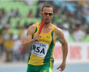 Oscar Pistorius leads SAfrica to national record in 4x400m heats - 2011 Worlds
