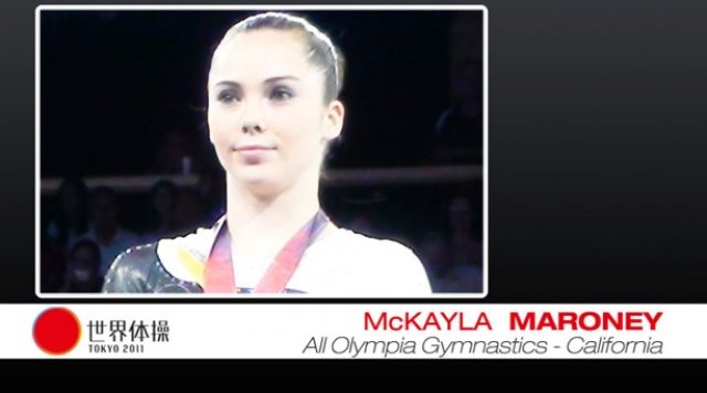 McKayla Maroney and Martha Karolyi before the 2011 World Championships