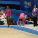 Gabby Douglas on Floor