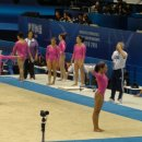 USA girls on Floor in Podium Training