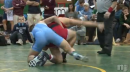Joe Esposito of St. Augustine pins Anthony Pompei of West Essex to win the Mustang Classic at 138lbs