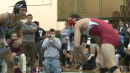 Alex Richardson of St. Peters Prep defeats Curt Delia of Delsea to win the Mustang Classic at 145lbs