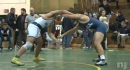 Jeff Velez of Brearley defeats Nathan Litowsky of Howell in the final seconds to win the Mustang Classic at 182lbs