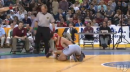Lenny Richardson of St. Peter's Prep defeats Nick Gravina of Northern Highlands, 145lb state tournament semifinals