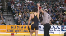 Anthony Cefolo of Hanover Park defeats Carl Buttitta of Iselin Kennedy in OT, 106lb state tournament finals