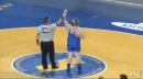 Cody Melton of Northern Burlington defeats Jermaine Eluemunor, 285lb state tournament finals