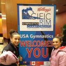 amelia and Lexie with pac rim sign