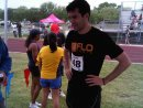 Mark Flo ready for the relay