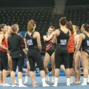 Stanford team at ncaa podium training