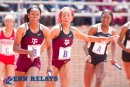 Texas A&M 1st Place (43.87) College Women's 4x100 Championship of America