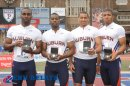 Auburn 1st Place (39.34) College Men's 4x100 Championship of America