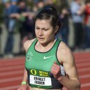 2012 Oregon Twilight Meet: Steeplechase Winner Bridget Franek at the Water Jump