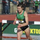 2012 Oregon Twilight Meet: Bridget Franek Leasds the Steeplechase