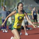 2012 Oregon Twilight Meet: Lauren Crockett, High Jump Winner