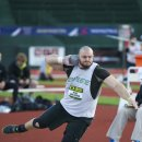 2012 Oregon Twilight Meet: Mike VanDoren, Winner of the Shot Put