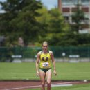 2012 Pac-12 Heptathlon: Brianne Theisen, Overall Winner, in the High Jump