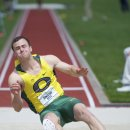 2012 Pac-12 Decathlon: Dakotah Keys, Overall Winner, in the Long Jump
