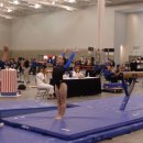 Samantha Ogden after hitting beam at Nationals