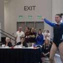 Samantha Partyka after her winning vault