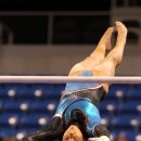 Lexie Priessman on bars at the 2012 Visa Championships
