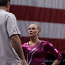 Bridget Sloan talks with Coach Marvin Sharp at 2012 Visa Championships