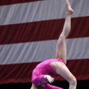 Rebecca Bross front aerial on beam at 2012 Visa Championships