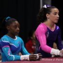 Simone Biles and Amelia Hundley  