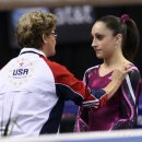 Martha Karolyi and Jordyn Wieber