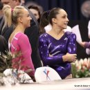 Jordyn Wieber with Nastia Liukin at the 2012 Secret US Classic