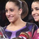 Jordyn Wieber and Aly Raisman at American Cup