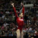 Kyla Ross on floor at 2012 U.S. Olympic Trials