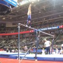 Jordyn Wieber warming up bars before the 2012 Olympic Trials