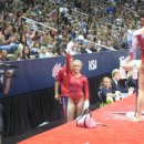 Nastia Liukin waves to the crowd after her final bar routine - 2012 Olympic Trials