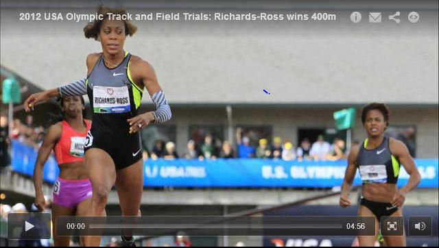 Sanya Richards-Ross 49.28 Womens 400m Final - USA Olympic Track and Field Trials 2012