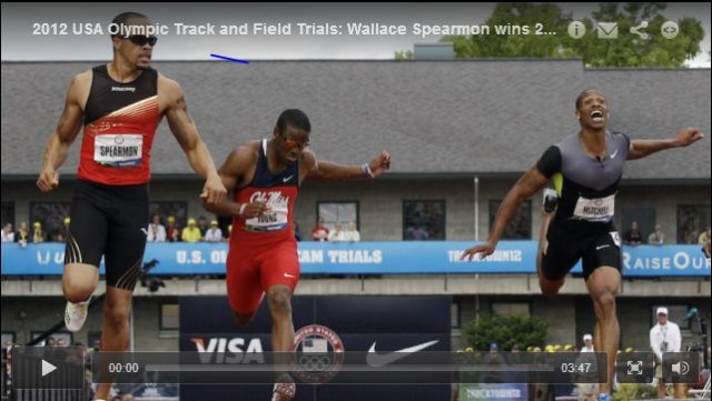 LaShawn Merrit 44.12 Mens 400m Final - USA Olympic Track and Field Trials 2012