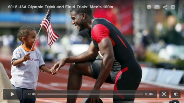 Justin Gatlin 9.80 Mens 100m Final - USA Olympic Track and Field Trials 2012