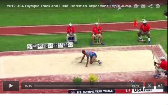 Mens Triple Jump Final - USA Olympic Track and Field Trials 2012
