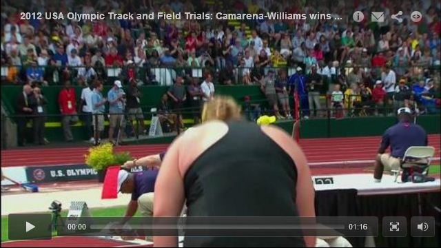 Womens Shot Put Final - USA Olympic Track and Field Trials 2012