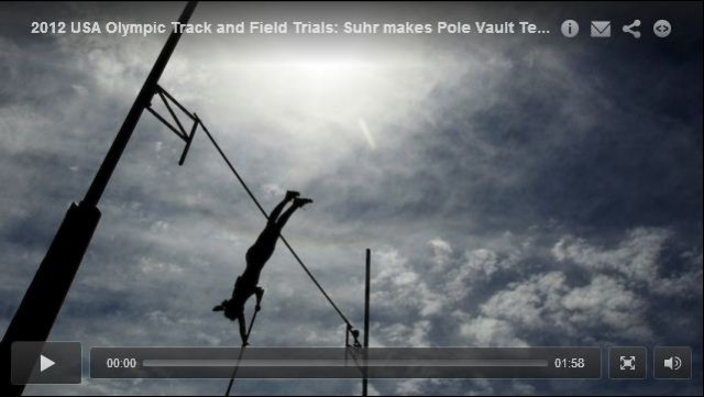 Jenn Suhr 4.60m Womens Pole Vault - USA Olympic Track and Field Trials 2012