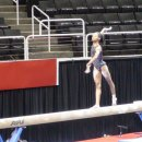 Gabby Douglas on beam