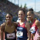 2012 Olympic Trials (Day 10): 400 Meter Hurdles Olympians--Lashinda Demus, Georganne Moline, and T'E