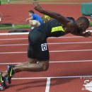 2012 Olympic Trials (Day 10): Angelo Taylor at the Start of the 400 Meter Hurdles