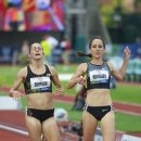 2012 Olympic Trials (Day 10): Shannon Rowbury (2nd) and Jenny Simpson (3rd) in the 1500 Meter