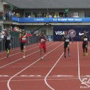 2012 Olympic Trials (Day 10): Wallace Spearmon Leads Maurice Mitchell and Isiah Young in the 200 Met