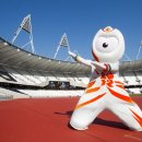 2012 London Olympic Mascots in the track stadium