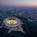 Aerial view of the Olympic Stadium  Credit  LOCOG