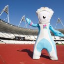 Olympic mascot in the track stadium  Picture taken 03 10 11 by David Poultney for LOCOG