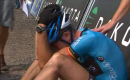 Mountain Biker Cries Like A Baby After Lost Sprint